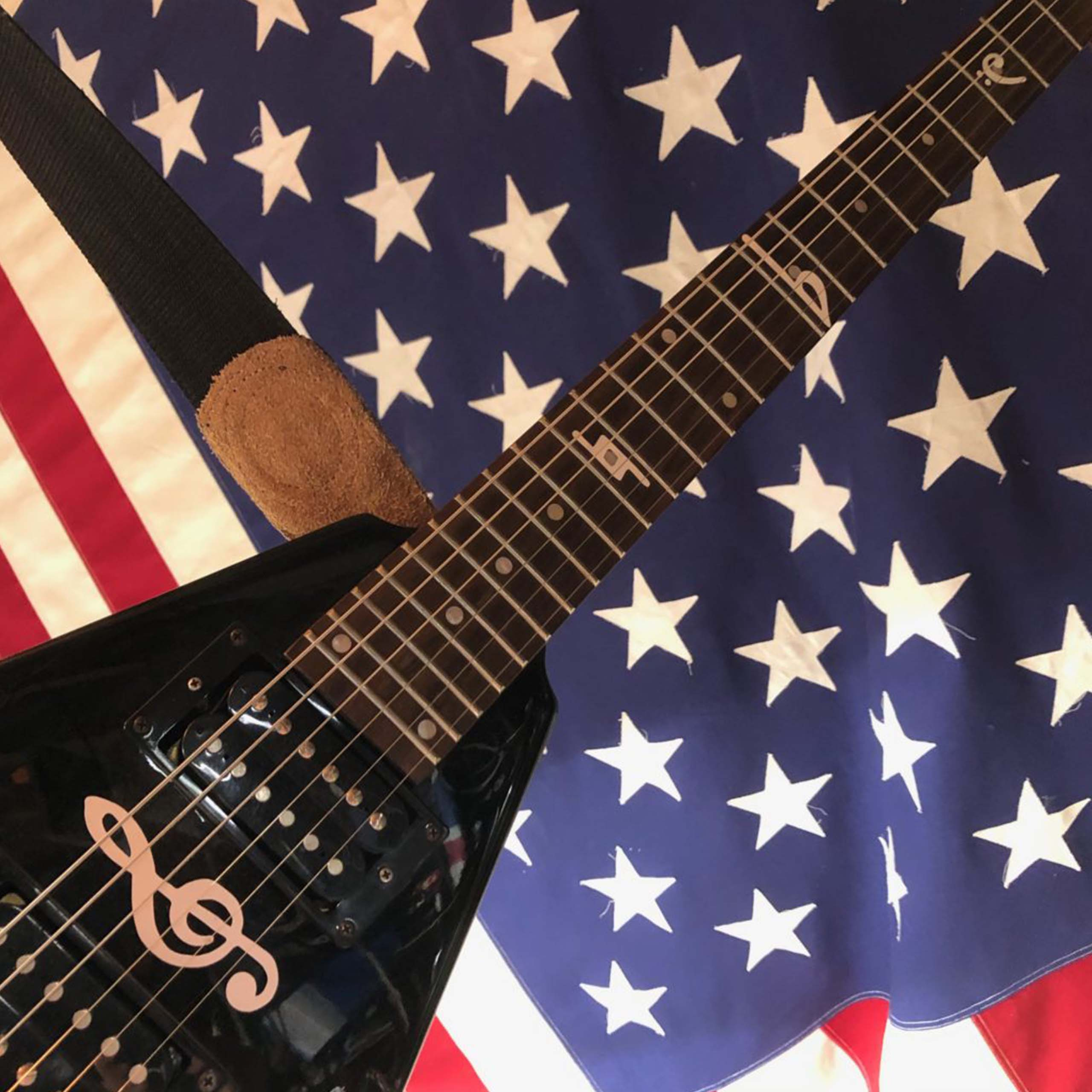 Guitar and American Flag